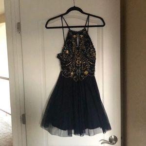 Brand new short navy prom dress